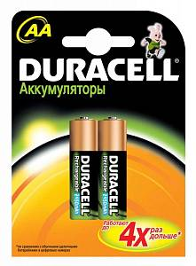 Аккумулятор Duracell Rechargeable HR6-2BL AA NiMH 2500mAh (2шт)